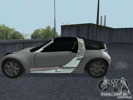 Smart Roadster Coupe para GTA San Andreas vista direita