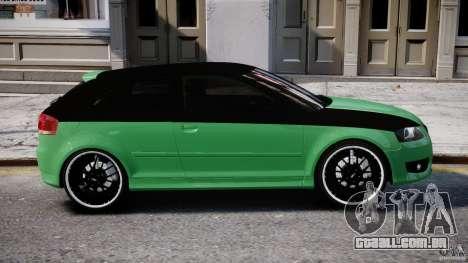 Audi S3 para GTA 4 vista inferior