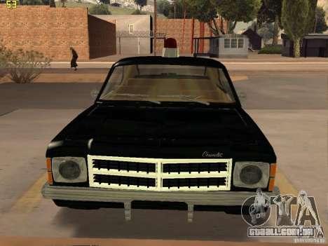 Chevrolet Opala Police para GTA San Andreas traseira esquerda vista