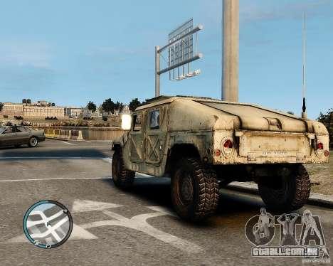 Hummer H1 para GTA 4 esquerda vista