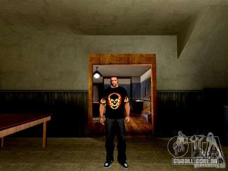 Camiseta preta com uma caveira para GTA San Andreas