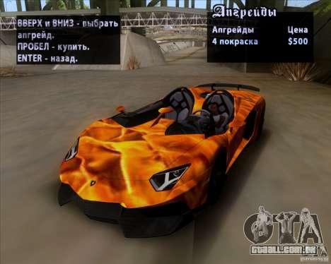Lamborghini Aventador J TT Black Revel para GTA San Andreas vista inferior