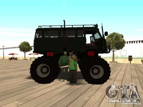 Uaz Monster para GTA San Andreas vista direita