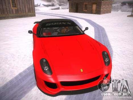Ferrari 599XX para GTA San Andreas esquerda vista