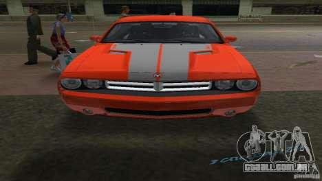 Dodge Challenger para GTA Vice City vista traseira esquerda