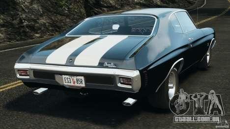 Chevrolet Chevelle SS 1970 v1.0 para GTA 4 traseira esquerda vista