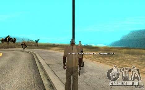 O suborno para GTA San Andreas segunda tela