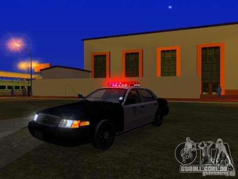 Ford Crown Victoria San Andreas State Patrol para GTA San Andreas vista inferior
