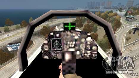Liberty City Air Force Jet para GTA 4 vista de volta