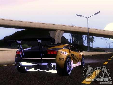 Lamborghini Gallardo Racing Street para GTA San Andreas vista traseira