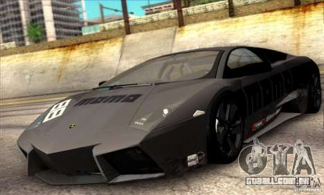 Lamborghini Reventon para GTA San Andreas vista interior