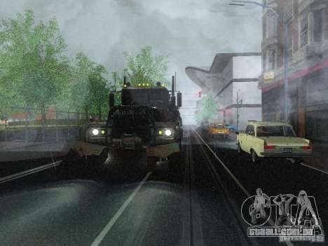 Armored Mack Titan Fuel Truck para GTA San Andreas vista direita