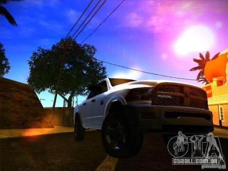 Dodge Ram Heavy Duty 2500 para GTA San Andreas traseira esquerda vista