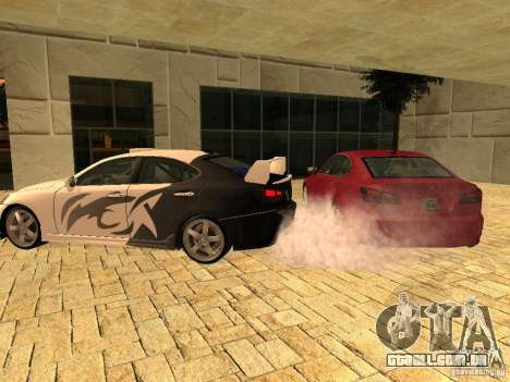 Lexus IS 350 para GTA San Andreas esquerda vista