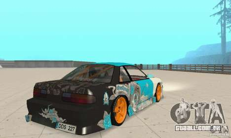 Nissan Silvia S13 NonGrata para GTA San Andreas esquerda vista