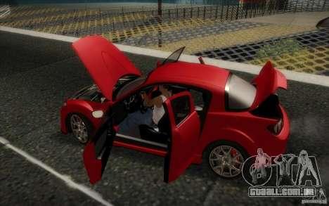 Mazda RX-8 R3 2011 para GTA San Andreas vista interior
