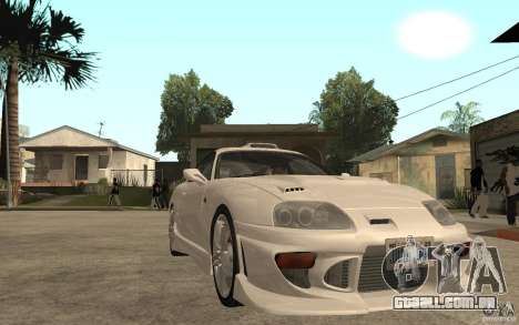 Toyota Supra Tunable para GTA San Andreas vista traseira