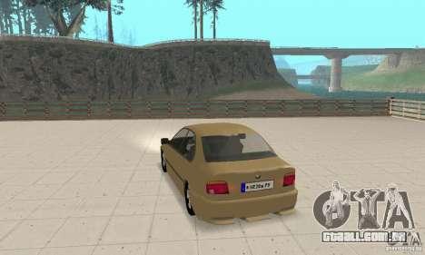 Bmw 528i para GTA San Andreas traseira esquerda vista