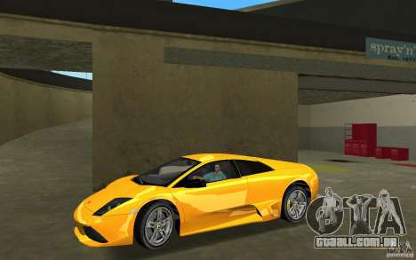 Lamborghini Murcielago LP640 para GTA Vice City deixou vista