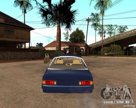 Opel Manta para GTA San Andreas traseira esquerda vista
