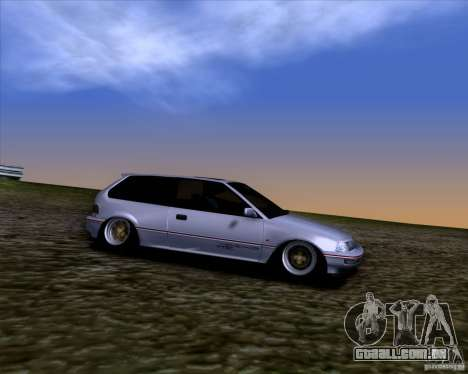 Honda Civic EF9 Hatch Stock para GTA San Andreas vista traseira