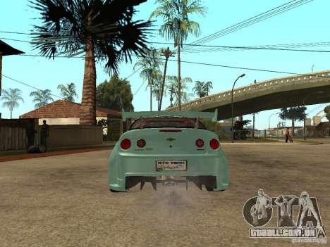 Chevrolet Cobalt SS NFS Shift Tuning para GTA San Andreas traseira esquerda vista
