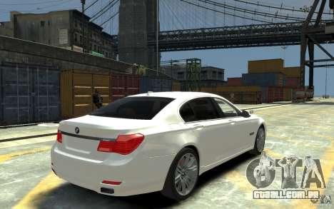 BMW ActiveHybrid 7 2010 para GTA 4 vista direita