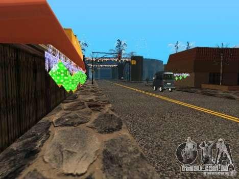 Véspera de ano novo no Grove Street para GTA San Andreas por diante tela