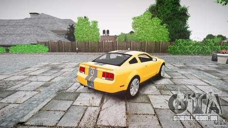 Shelby GT 500 KR 2008 K.I.T.T. para GTA 4 vista lateral