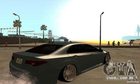Acura TSX 2010 para GTA San Andreas traseira esquerda vista