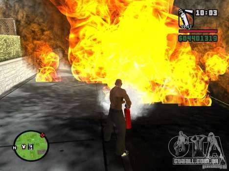 Novo extintor de incêndio para GTA San Andreas segunda tela