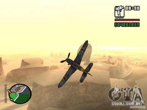BF-109 G-16 para GTA San Andreas vista traseira