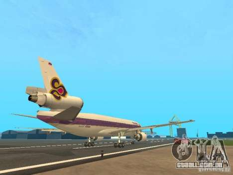 McDonell Douglas  DC 10 Thai Airways para GTA San Andreas vista direita