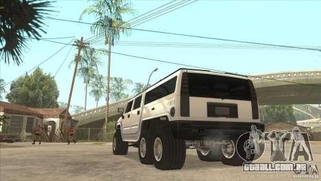 Hummer H6 para GTA San Andreas traseira esquerda vista