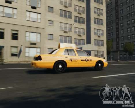 Ford Crown Victoria NYC Taxi 2012 para GTA 4 vista direita
