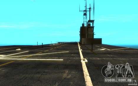 New Aircraft carrier para GTA San Andreas vista traseira