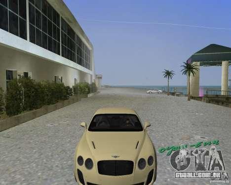 Bentley Continental SS para GTA Vice City vista traseira esquerda