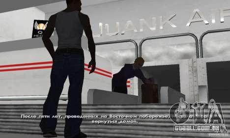 Crack para a versão Steam do GTA San Andreas para GTA San Andreas por diante tela