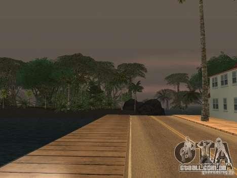 O mistério das ilhas tropicais para GTA San Andreas por diante tela