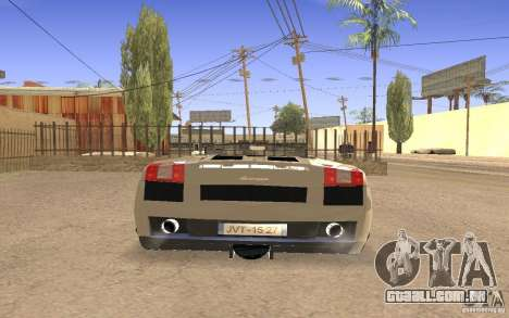 Lamborghini Galardo Spider para GTA San Andreas vista interior
