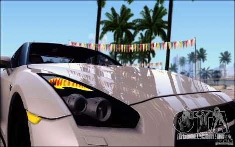 Nissan GTR 2011 Egoist (versão com sujeira) para GTA San Andreas vista inferior