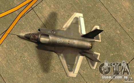 Lockheed F-35 Lightning II para GTA San Andreas vista traseira