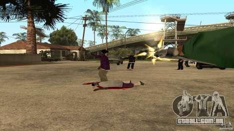 Na Grove Street foi atacado por Ballas para GTA San Andreas por diante tela