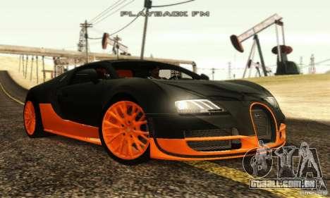Bugatti Veyron SuperSport para GTA San Andreas traseira esquerda vista