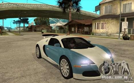 Bugatti Veyron Final para GTA San Andreas vista traseira