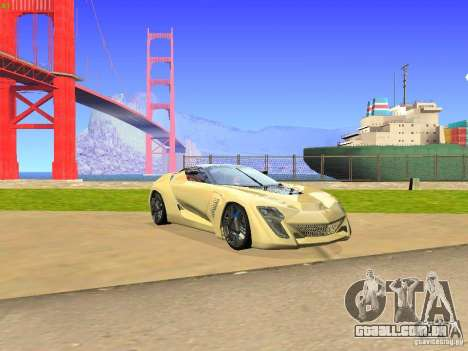 Bertone Mantide para GTA San Andreas esquerda vista