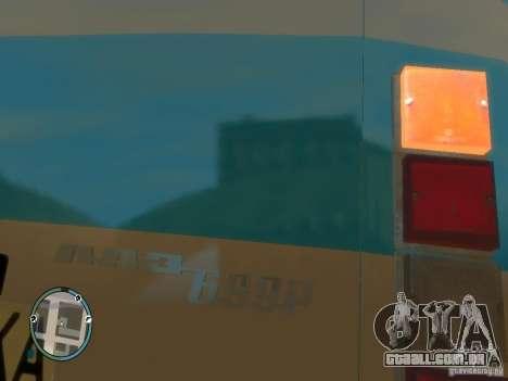 LAZ 699R (98-02) v 1.0 para GTA 4 traseira esquerda vista