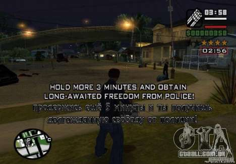 Ganhou liberdade de polícia 1.0 para GTA San Andreas