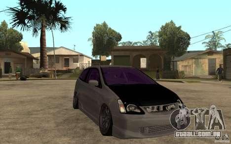 Honda Civic Type-R para GTA San Andreas vista traseira