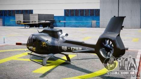 Eurocopter 130 B4 para GTA 4 traseira esquerda vista